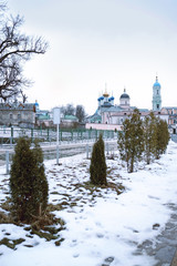 Kozelsk: view of the  Monastery Of Optina Pustyn in Kozelsk