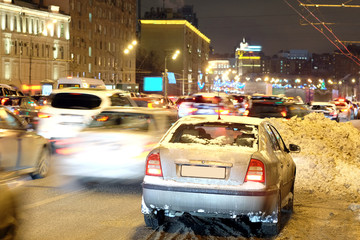 Moscow, Russia,  2014:  multikilometer traffic jams