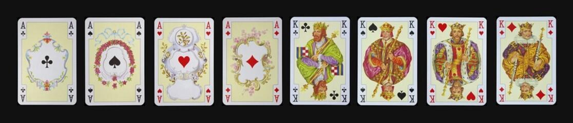 Spielkarten - Asse und Könige in Luxus und Nostalgie