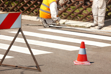 Traffic Series: Renew the Road Marking on the Street