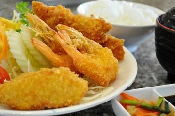 Japanese style fried food