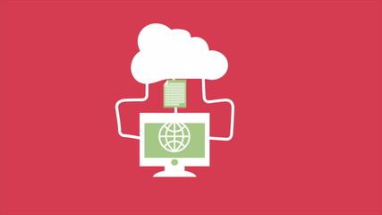 Cloud computing, Video Animation. HD 1080
