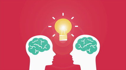 Ideas on brain illustration, Video Animation. HD 1080