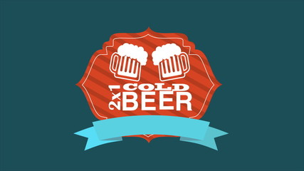 Cold Beer, Video Animation. HD 1080