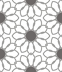 Vector seamless flower pattern camomile