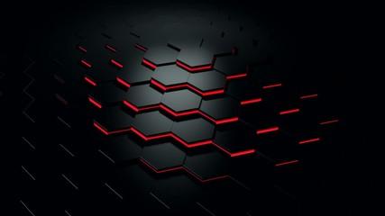 Hex Floor red