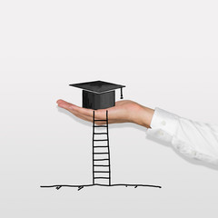 bachelor cap with ladder