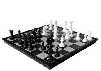 Opening gambit isolated on a white