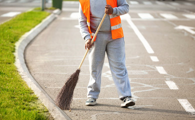 Road Series: Sweeping on the street