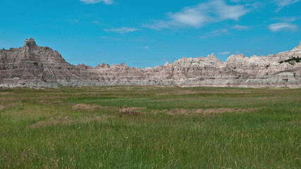 Time Lapse of Scenic Meadow - Badlands National Park