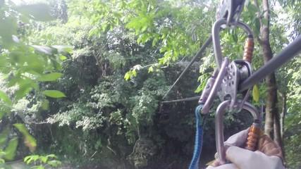 Zip lining extreme summer sport