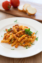 Pasta with Beef and Tomato Sauce