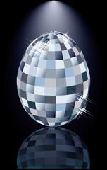 Diamonds Easter egg, vector illustration