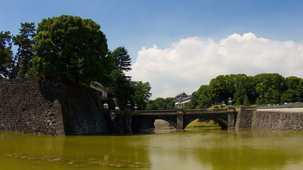 imperial palace (Niju-bashi Bridge) time lapse