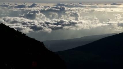 Time Lapse of Clouds at Haleakala National Park, Maui Hawaii