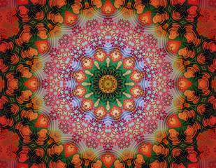 Floral energy mandala