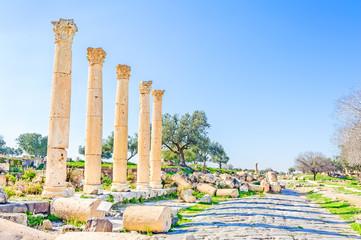 Sanctuary Heiligtum at Umm Qais in northern Jordan
