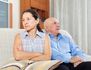 Mature woman having conflict with husband