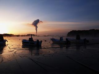 有珠湾の朝 冬