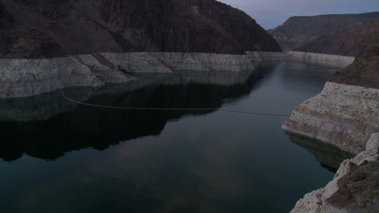 Time Lapse of Hoover Dam Reservoir - Day to Night