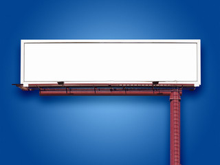 Blank Billboard on Blue
