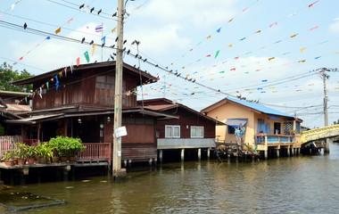 Old Bangkok, Thailand. Canal Bankgok Yai