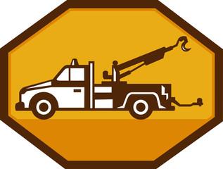Vintage Tow Wrecker Truck Retro