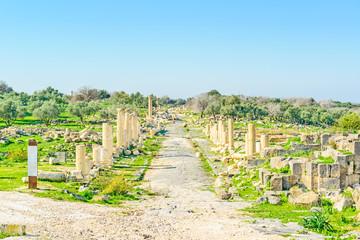 Roman ruins at Umm Qais in northern Jordan