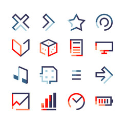 Pack geometric gradient flat startup icon