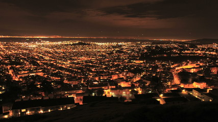 City of San Francisco at Night from Twin Peaks