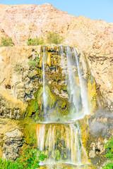 Hammamat Ma'in Hot Springs waterfall in Madaba, Jordan