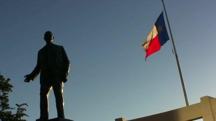 Texas Flag At Dealy Plaza Dallas Texas