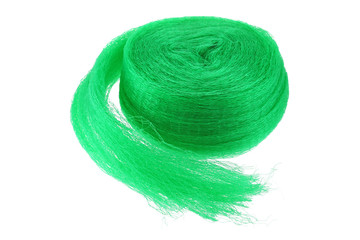 A roll of  anti bird Garden netting in green color