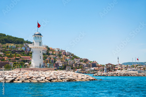 Keuken foto achterwand Turkey Lighthouse in the port of Alanya, Turkey
