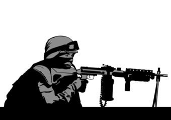 Soldiers gun