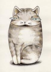 太ったネコ