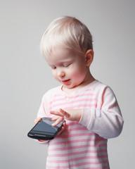 Baby playing phone