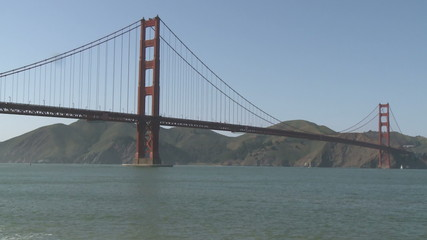 Golden Gate Bridge Boat Traffic