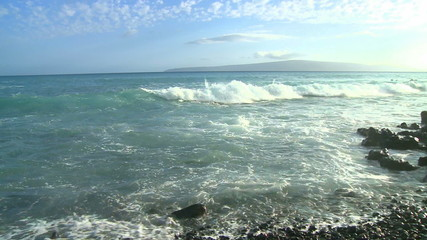 Time Lapse of Waves and Rocks Maui Hawaii