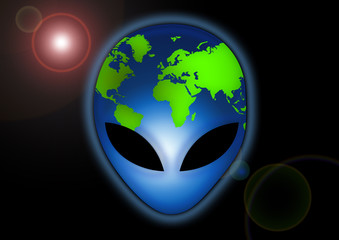 Alien Erde / Earth / Wallpaper