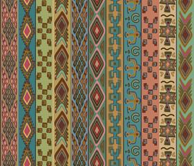 Tribal vector seamless pattern.