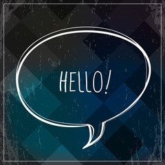Creative Hello sign, type, text