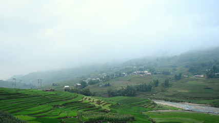 Fog in the Mountains of Sapa - Northern Vietnam