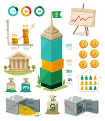 Economics and finance. Infographic elements.
