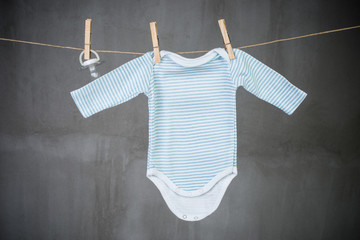 Baby onesie  and baby pacifier