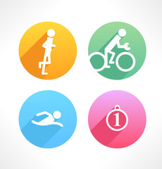 Set of simple sport icons.