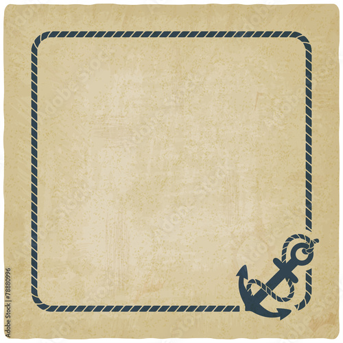 marine background with anchor - 78880996