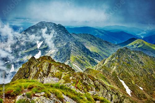 Fagaras mountain range in Romania © xalanx