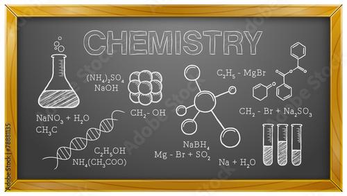 Chemistry, Science, Chemical Elements, Blackboard - 78881135