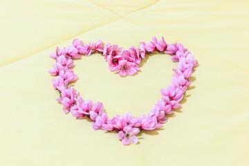 Heart from Cherry blossoms or sakura